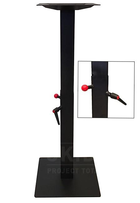 Vierkant Tafelonderstel gietijzer zwart