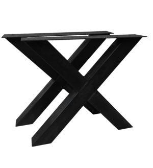 stalen tafelonderstel X poot