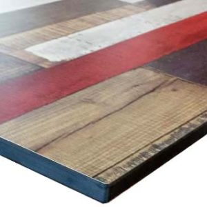 Compact tafelblad 224 Roestzilver