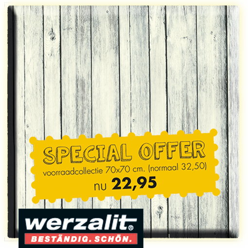 Terrastafelblad Werzalit 202 Antique White